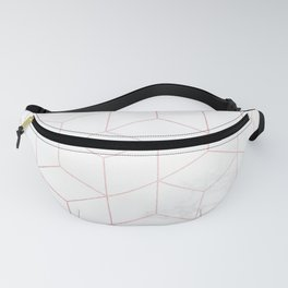 Rose Gold Geometric White Mable Cubes Fanny Pack