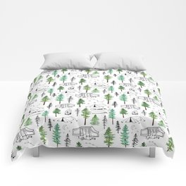 Camping and Trees Comforters