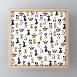 Howl-o-ween Framed Mini Art Print