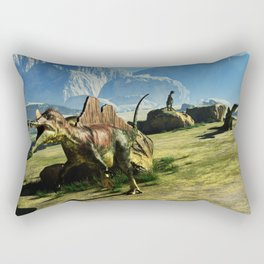 Ichthyovenator Dinosaur Rectangular Pillow