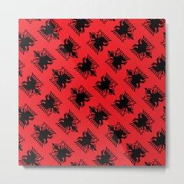 Albanian flag pattern Metal Print