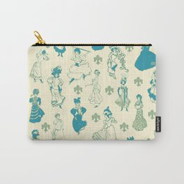 Vintage Ladies BLUE BEIGE / 18th and 19th century illustrations of women Carry-All Pouch