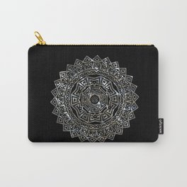 Aztec Mexican Silver Mandala Carry-All Pouch