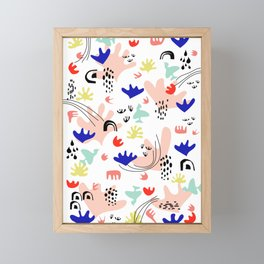 Colorful Land - Shapes Pattern Framed Mini Art Print