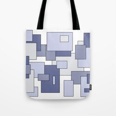 Squares - blue. Tote Bag