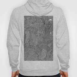 High detail black fine liner Hoody