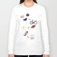sport Long Sleeve T-shirts featuring Sport - Triathlon by BlandinePannequin
