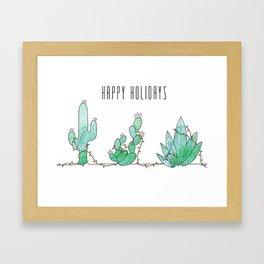 Christmas Cacti Framed Art Print