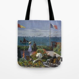 Claude Monet - Garden at Sainte-Adresse (1867) Tote Bag