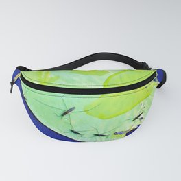 Water striders on lily pad Fanny Pack