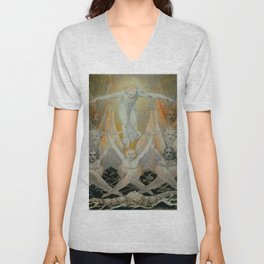 "William Blake ""David Delivered out of Many Waters"" Unisex V-Neck"