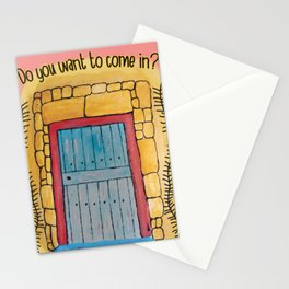 Do you want to come in? My door and my heart are open to you. Stationery Cards