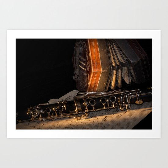 The Clarinet and the Concertina Art Print
