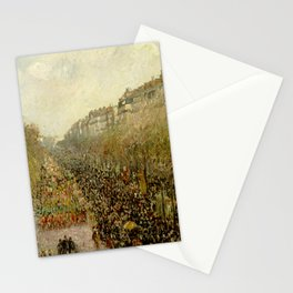 "Camille Pissarro ""Boulevard Montmartre - Mardi Gras"" Stationery Cards"