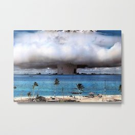 Bikini Atoll Nuclear Test, 1946 Pacific Ocean in color photograph / photography Metal Print