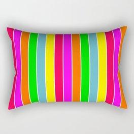 Neon Hawaiian Rainbow Deck Chair Stripes Rectangular Pillow