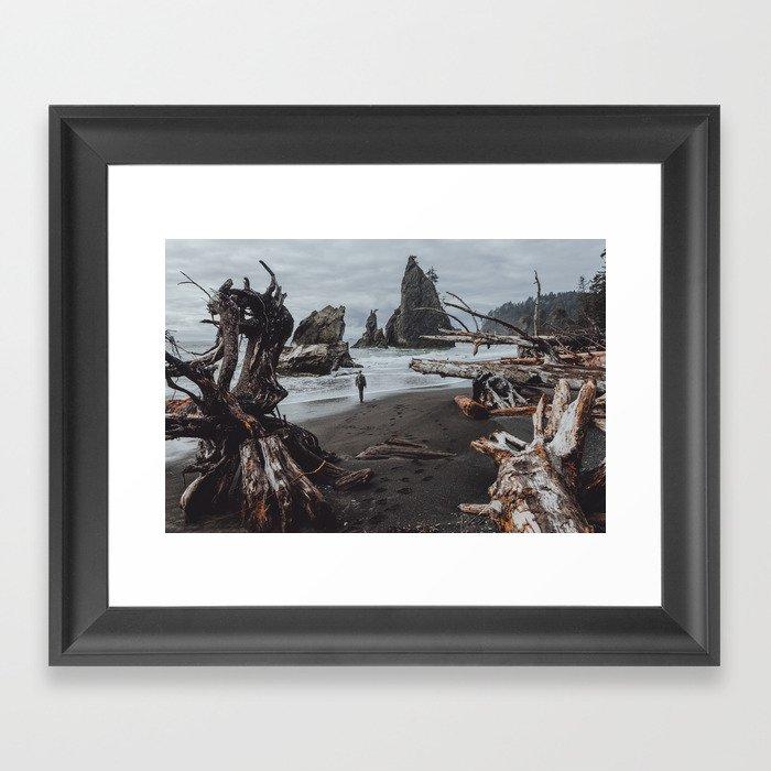 Olympic Coastline Framed Art Print