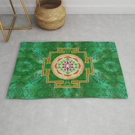 Sri Yantra  / Sri Chakra in color Rug