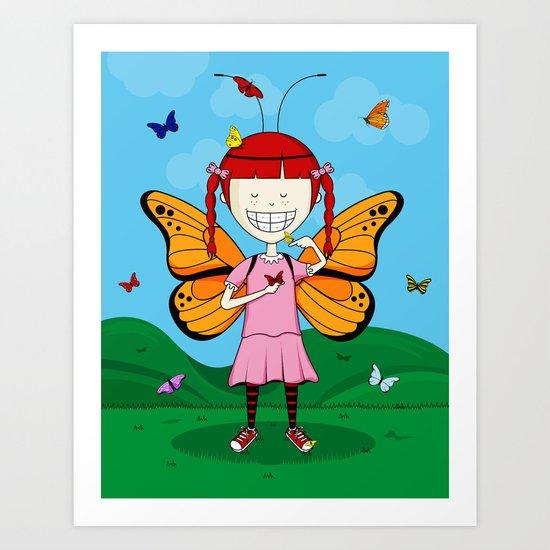 i heart butterflies Art Print