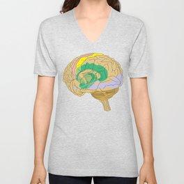 Brain Unisex V-Neck