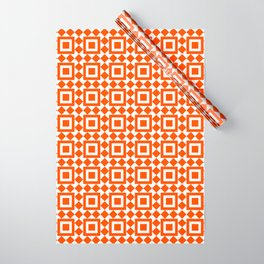 Moroccan Tiles Red Wrapping Paper