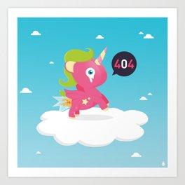 Oups...404! Art Print