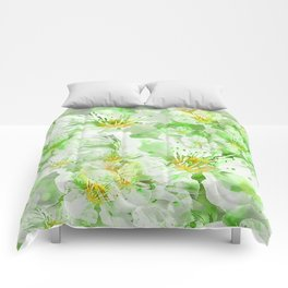 Light Floral Collage Comforters