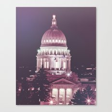 Idaho Capital Building at Night Canvas Print
