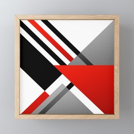 Sophisticated Ambiance - Silver & Passion Red Framed Mini Art Print