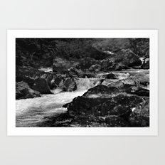 River, Snowdonia, Wales. Art Print