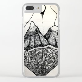 Lines Inside Mountains Clear iPhone Case