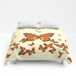 MONARCH BUTTERFLY SWARM Comforters