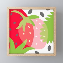 Just Strawberries Framed Mini Art Print