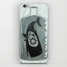Whale in a Bottle | Ship's Wheel iPhone & iPod Skin