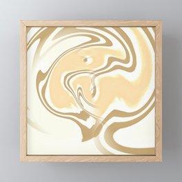 Vanilla Swirl Framed Mini Art Print