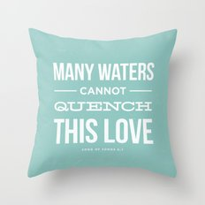 Many Waters Throw Pillow