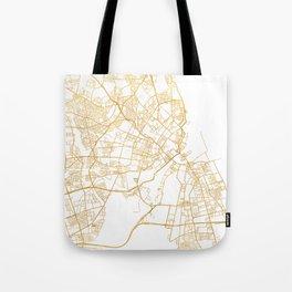 COPENHAGEN DENMARK CITY STREET MAP ART Tote Bag