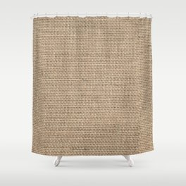 Burlap Texture Shower Curtain