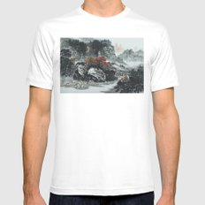 The spring of Absolute Valley Mens Fitted Tee White MEDIUM
