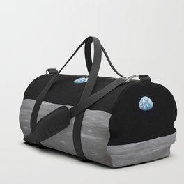 Earth rise over the Moon Duffle Bag