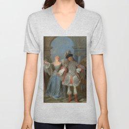 "Antoine Watteau ""The French Comedians"" Unisex V-Neck"