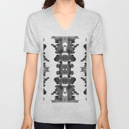 Black Ink Blots Unisex V-Neck
