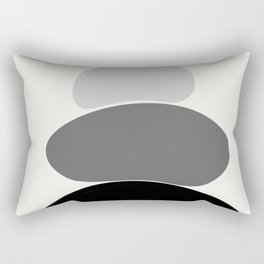 b&w 2 Rectangular Pillow
