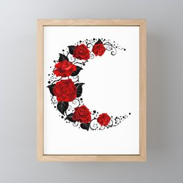 Moon of Red Roses Framed Mini Art Print