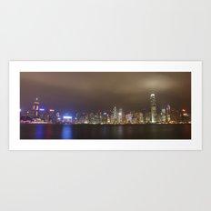 hong kong nightscape Art Print