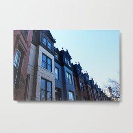 Williamsburg Townhomes in NYC Metal Print