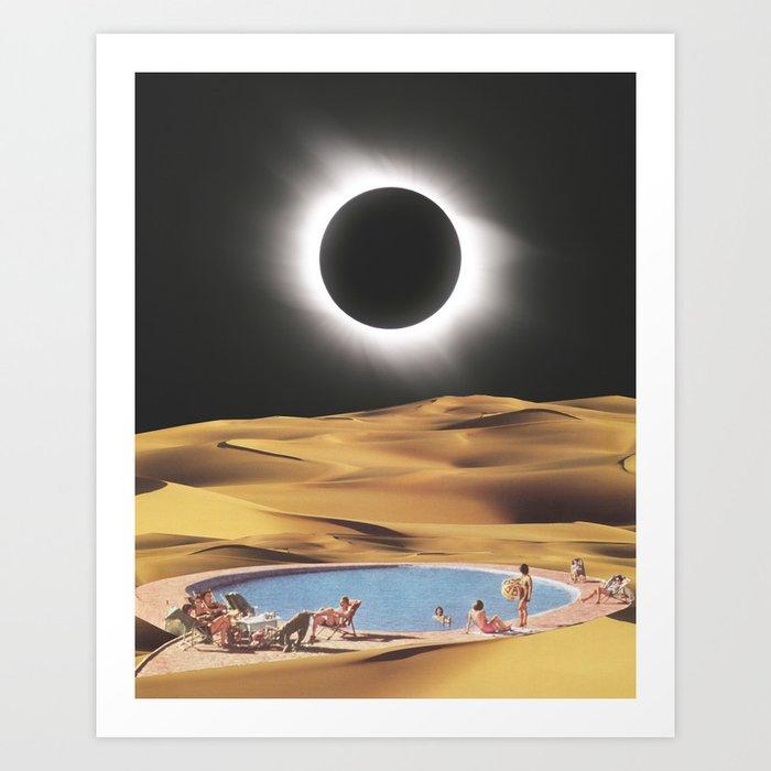 Desert Eclipse Art Print