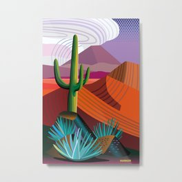 Thunderhead Builds in Arizona Desert Metal Print
