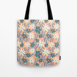 Just Peachy Floral Tote Bag