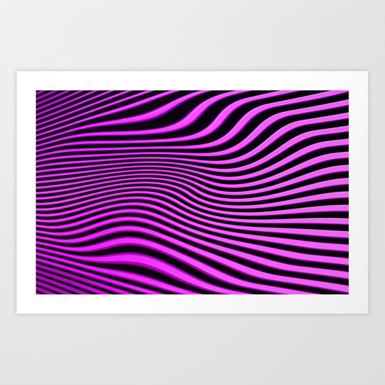 Stripes in Pink Art Print